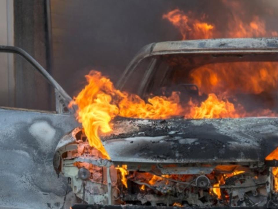 ВПриангарье заночь сгорели три автомобиля