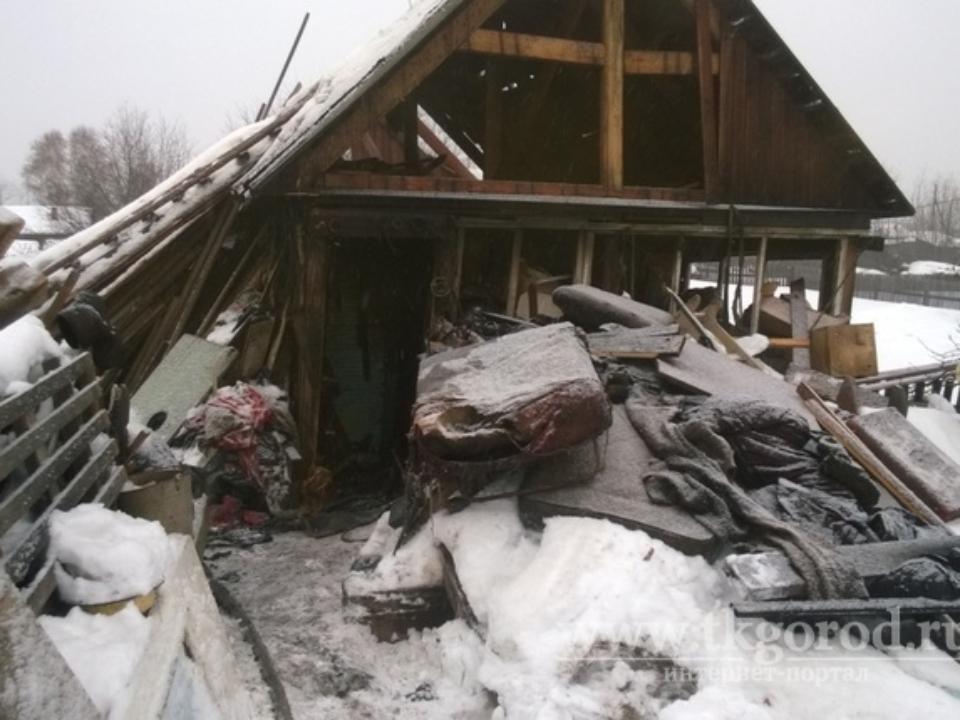 Тело женщины, неповрежденное огнём, обнаружили напожарище вБратске