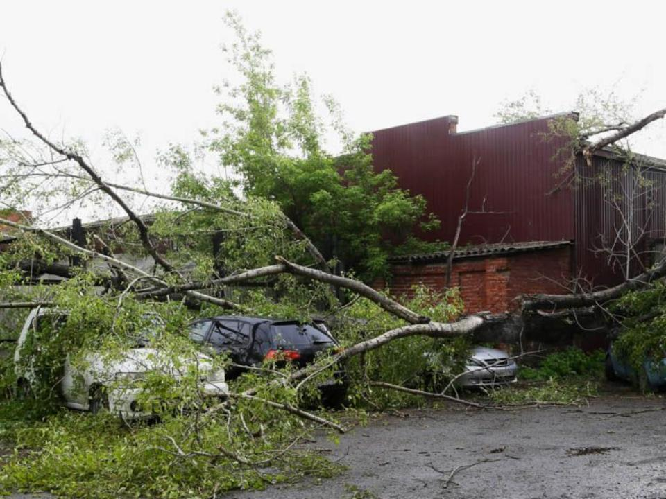 Вчетверг поКемерово пронесся циклон