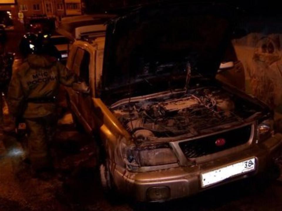 Две иномарки вспыхнули ночью вИркутске