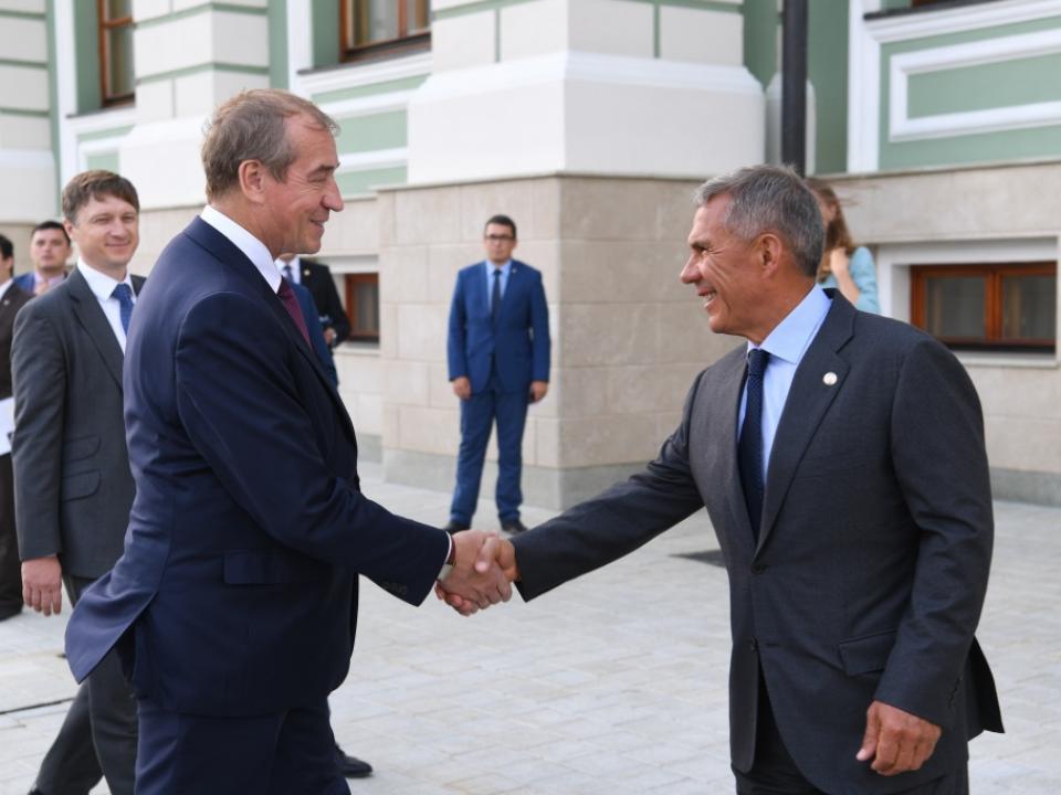 ВТатарстан срабочим визитом прибыл губернатор Иркутской области