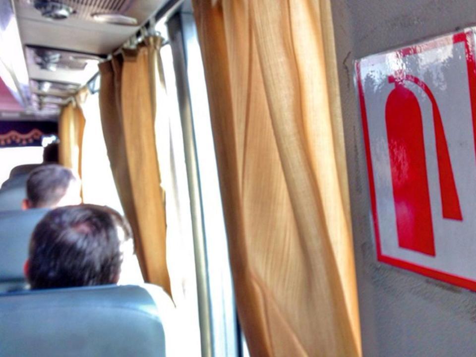 Свидетели  сняли навидео пожар впассажирском автобусе №91 вКемерове