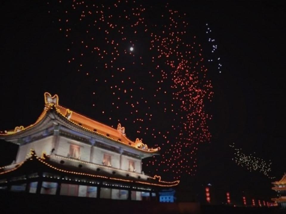 13-минутный полет дронов вКитайской республике затмил олимпийский рекорд